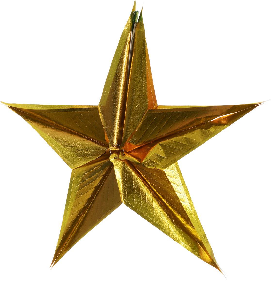 Гирлянда новогодняя Magic Time Звезда большая золотая, 17 x 32 см magic time подарочный пакет новогодняя лампа 26 32 4 12 7 см