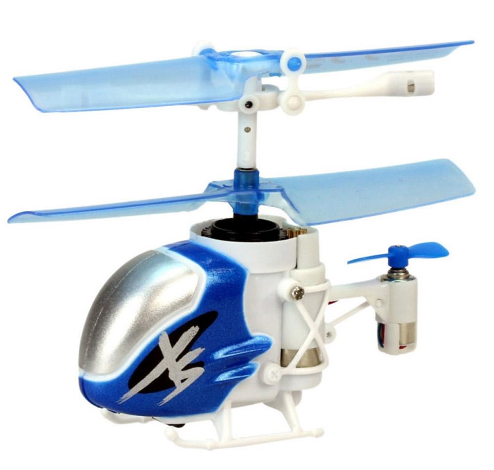 Silverlit Вертолет на инфракрасном управлении Nano Falcon XS цвет синий белый самолеты и вертолеты silverlit вертолет 3 х канальный heli sniper 2 со стрелами зеленый