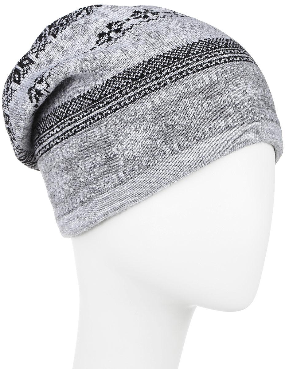 Шапка мужская Finn Flare, цвет: светло-серый. W16-22112_211. Размер 58W16-22112_211Мужская шапка Finn Flare, выполненная из акрила и шерсти, отлично дополнит ваш образ в холодную погоду. Мягкая подкладка изготовлена из 100% полиэстера. Модель оформлена стильным вязаным узором и декорирована фирменной металлической нашивкой. Шапка составит идеальный комплект с модной верхней одеждой и подарит вам уют и тепло.Уважаемые клиенты!Размер, доступный для заказа, является обхватом головы.