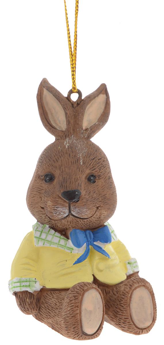 Украшение новогоднее подвесное Magic Time Зайчик в пиджаке, 5 х 4,5 х 7 см39248Новогоднее подвесное украшение Magic Time Зайчик в пиджакевыполнено из полирезины в виде зайца. С помощьюспециальной петельки украшение можно повесить в любом понравившемся вамместе. Но, конечно, удачнее всего оно будет смотреться на праздничной елке.Елочная игрушка - символ Нового года. Она несет в себе волшебство и красотупраздника. Создайте в своем доме атмосферу веселья и радости, украшаяновогоднюю елку нарядными игрушками, которые будут из года в год накапливатьтеплоту воспоминаний.