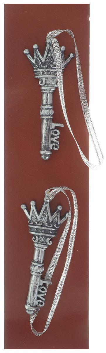 Украшение новогоднее подвесное Magic Time Королевские ключи, 7 х 3 х 0,5 см, 2 шт magic time набор украшений королевские ключи 2 шт