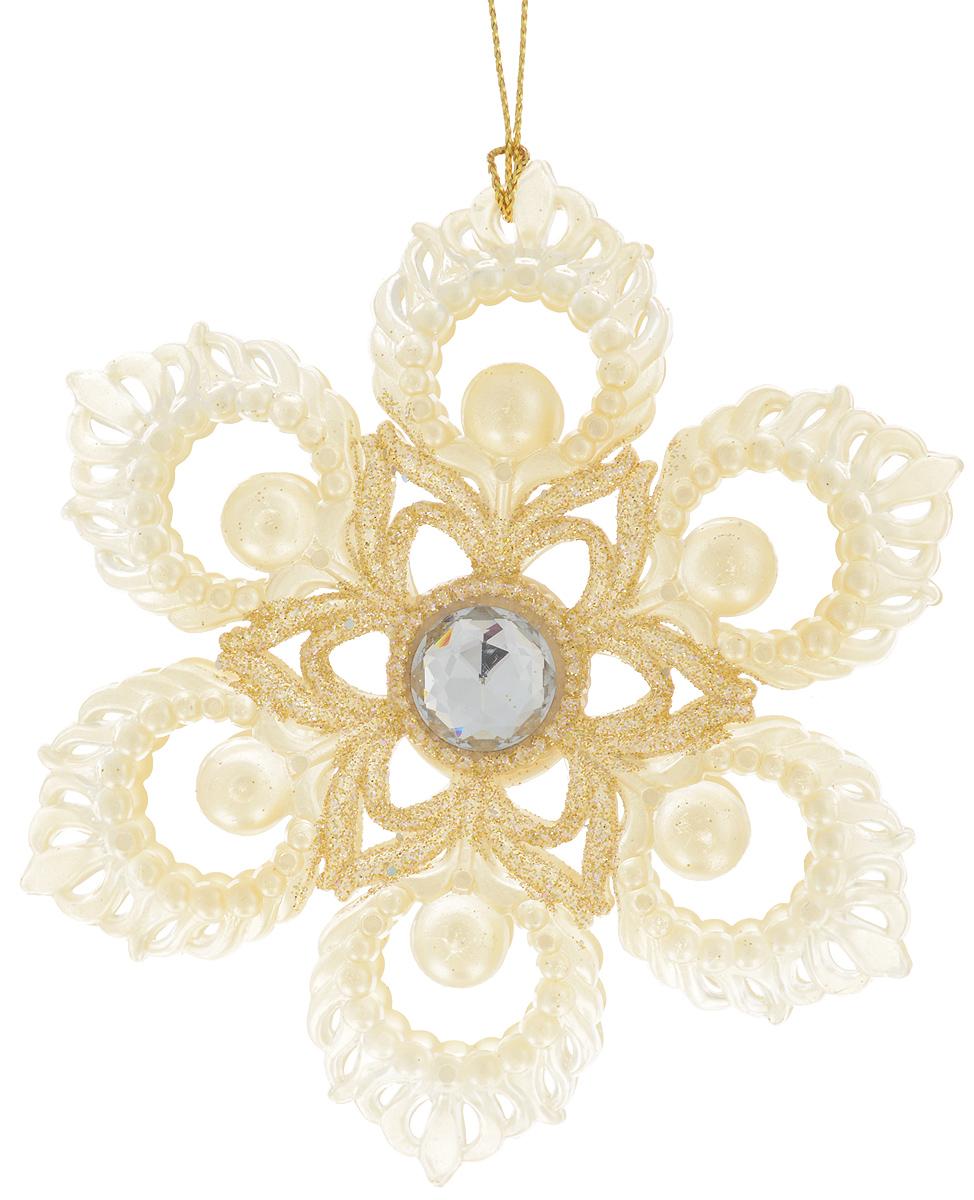 Украшение новогоднее подвесное Magic Time Цветок, диаметр 10,2 см. 3504835048Новогоднее подвесное украшение Magic Time Цветок выполнено из пластика в виде цветка и украшено блестками. С помощью специальной петельки украшение можно повесить в любом понравившемся вам месте. Но, конечно, удачнее всего оно будет смотреться на праздничной елке.Елочная игрушка - символ Нового года. Она несет в себе волшебство и красоту праздника. Создайте в своем доме атмосферу веселья и радости, украшая новогоднюю елку нарядными игрушками, которые будут из года в год накапливать теплоту воспоминаний.