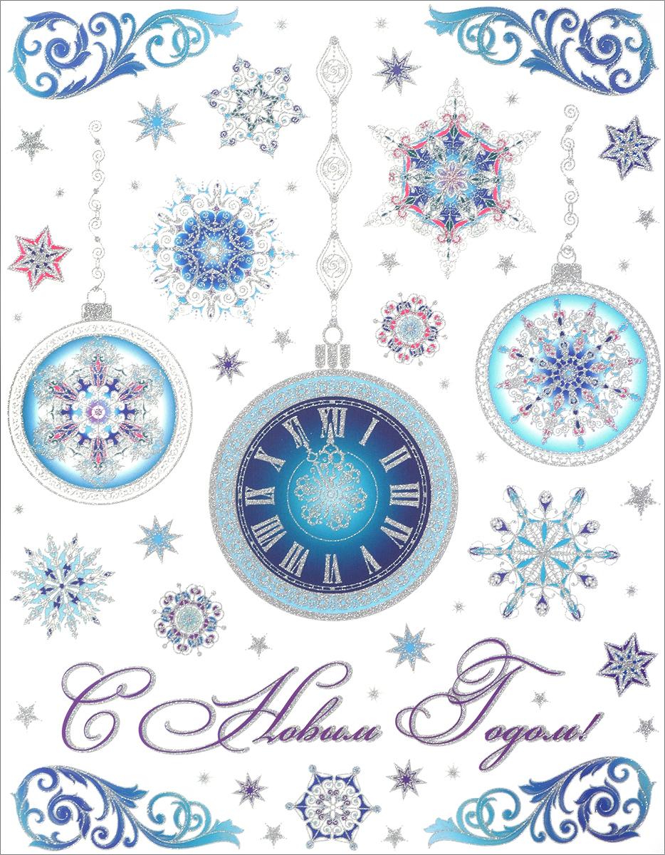 Украшение новогоднее оконное Magic Time Елочные шары, 30 х 38 см