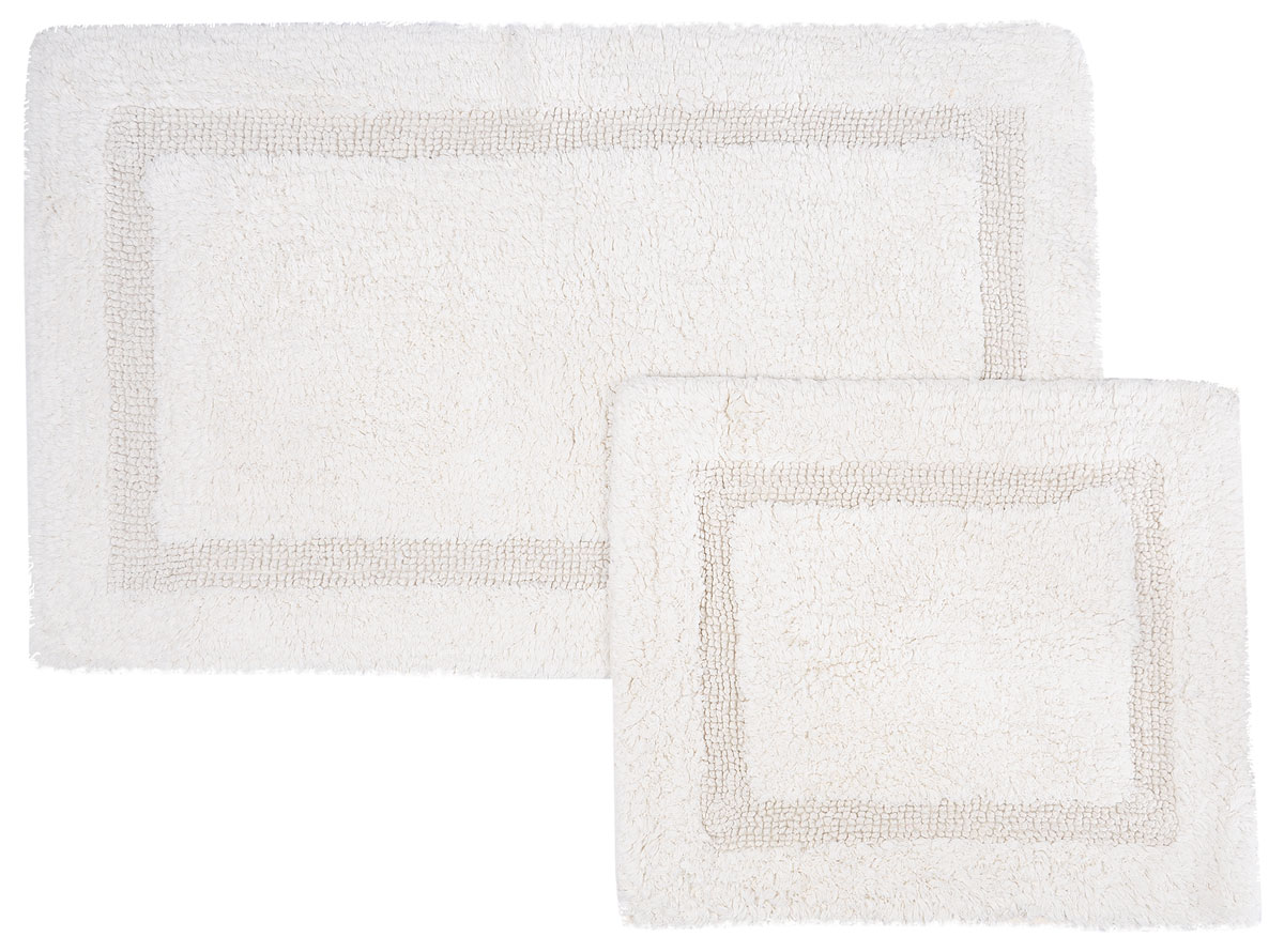 Набор ковриков для ванной Modalin Karla, цвет: кремовый, 2 шт5027/CHAR005Набор Modalin Karla, выполненный из высококачественного хлопка, состоит из двух ковриков для ванной комнаты. Изделия добавят тепло и уют, а также внесут неповторимый колорит в интерьер ванной комнаты. Высокая износостойкость ковриков и стойкость цвета позволит вам наслаждаться покупкой долгие годы. Размер большего коврика: 60 х 100 см.Размер малого коврика: 60 х 50 см.