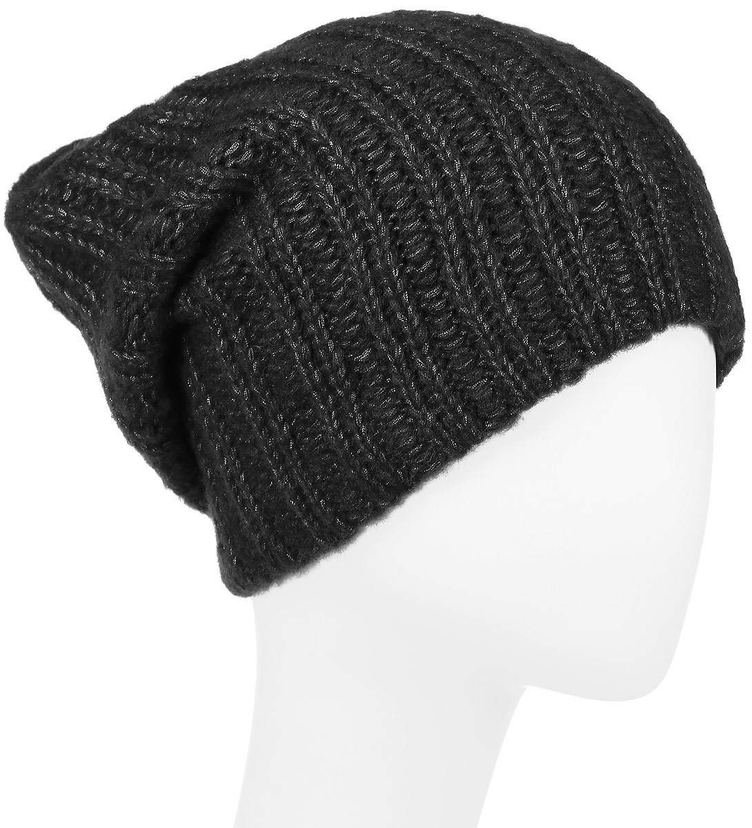 Шапка женская Finn Flare, цвет: черный. W16-11140_200. Размер 56 шапка женская nuages цвет голубой nh 742 106 размер универсальный