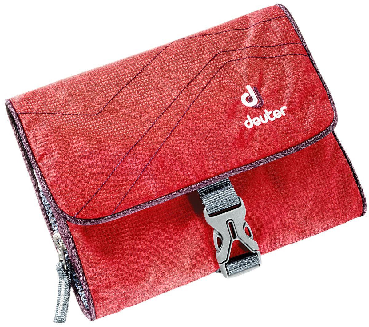 Косметичка Deuter Wash Bag I, цвет: красный, фиолетовый, 16 см x 19 см x 3 см