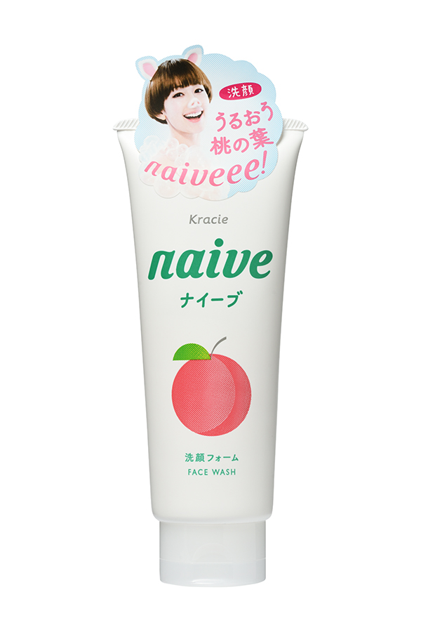 Kracie 67441kr Naive Пенка для умывания с экстрактом листьев персикового дерева, 130 г пенка для умывания с антибактериальным эффектом skinlife 130 г