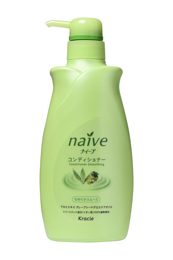 Kracie 71602 Naive Бальзам-ополаскиватель для нормальных волос восстанавл.Naive - экстракт алоэ, 550 мл71602krМягкий бальзам-ополаскиватель обеспечивает волосы необходимыми питательными и увлажняющими веществами. Активные компоненты 100% растительного происхождения восстанавливают структуру волос, делая их шелковистыми и послушными. • Гликозилтрегалоза (увлажняющее вещество аминокислотной группы) в сочетании с растительными экстрактами глубоко увлажняет волосы, предотвращая ломкость и секущиеся кончики. • Экстракт алоэ защищает волосы от пересушивания, увлажняет, смягчает и успокаивает кожу головы. • Масло виноградных косточек придает волосам блеск и делает их послушными при укладке.