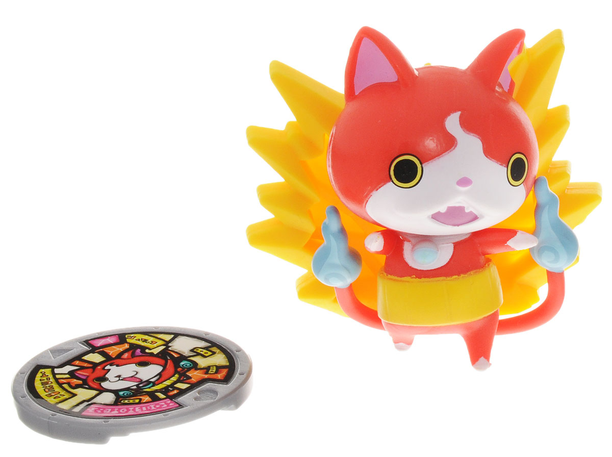 Yokai Watch Фигурка c медалью Jibanyan фигурки игрушки hasbro фигурка yokai watch йо кай