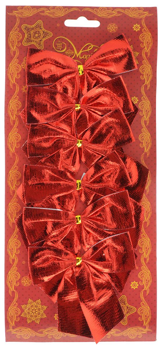 Украшение новогоднее Magic Time Бант красный шелк, 8 х 8 х 1 см, 6 шт42773Новогоднее украшение Magic Time Бант красный шелк отлично подойдет для декорации вашего дома и новогодней ели. Игрушка выполнена из полиэстера в виде бантика. Украшение можно привязать к ели.Елочная игрушка - символ Нового года. Она несет в себе волшебство и красоту праздника. Создайте в своем доме атмосферу веселья и радости, украшая всей семьей новогоднюю елку нарядными игрушками, которые будут из года в год накапливать теплоту воспоминаний.
