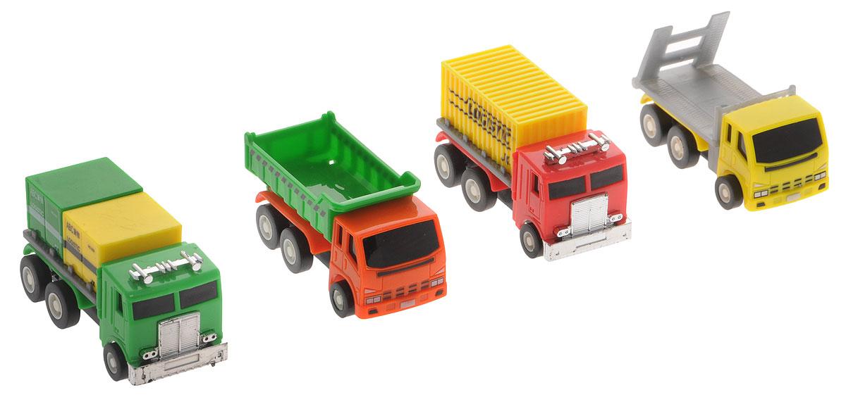 Дрофа-Медиа Набор грузовых машинок 4 шт дрофа медиа набор для изготовления игрушек пальчиковый театр зоопарк
