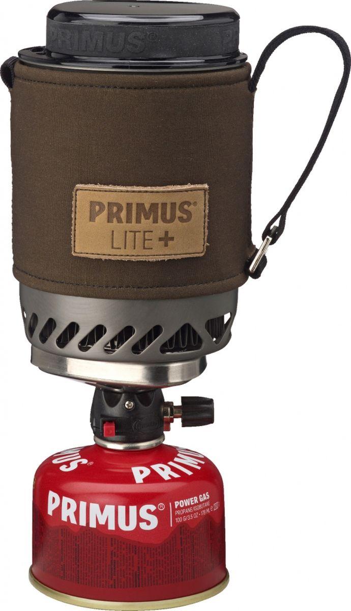 Горелка газовая Primus Lite Plus, цвет: хаки. P356010P356010Горелка газовая Primus Lite Plus устанавливает новый стандарт для компактных горелок. Уникальный механизм блокировки (подана заявка на патент) делает его очень простым в использовании. Благодаря ламинарному потоку газа Burner Technology (подана заявка на патент) уменьшаются затраты газа. Идеально подходит для соло поездки или кофе-брейка для двоих (дополнительно есть в продаже кофе пресс).Горелка и все аксессуары, в том числе газовый баллончик 100 грамм, укладывается в 500 мл кастрюлю из закаленного анодированного алюминия.Модель Lite + поставляется с новым термостойким рукавом из прочной войлока. Рукав оснащен лямками с помощью которых горелку можно подвесить в вертикальном положении. Крышка сокращает время приготовления пищи.В комплект входит подставка под газовый баллон для устойчивого положения на неровной поверхности.Газ не входит в комплект. Высота (мм): 150.Диаметр (мм): 100. Сезон: трехсезонная.Мощность: 1500 Вт. Кипячение: 2:45 мин (0,5 л).Зажигание: пьезо.