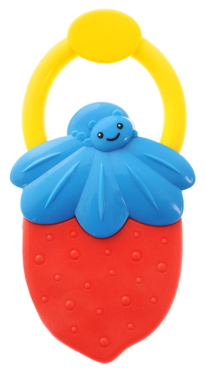 Bondibon Погремушка Ягодка цвет красный синий bondibon копилка в технике декопатч сердечко