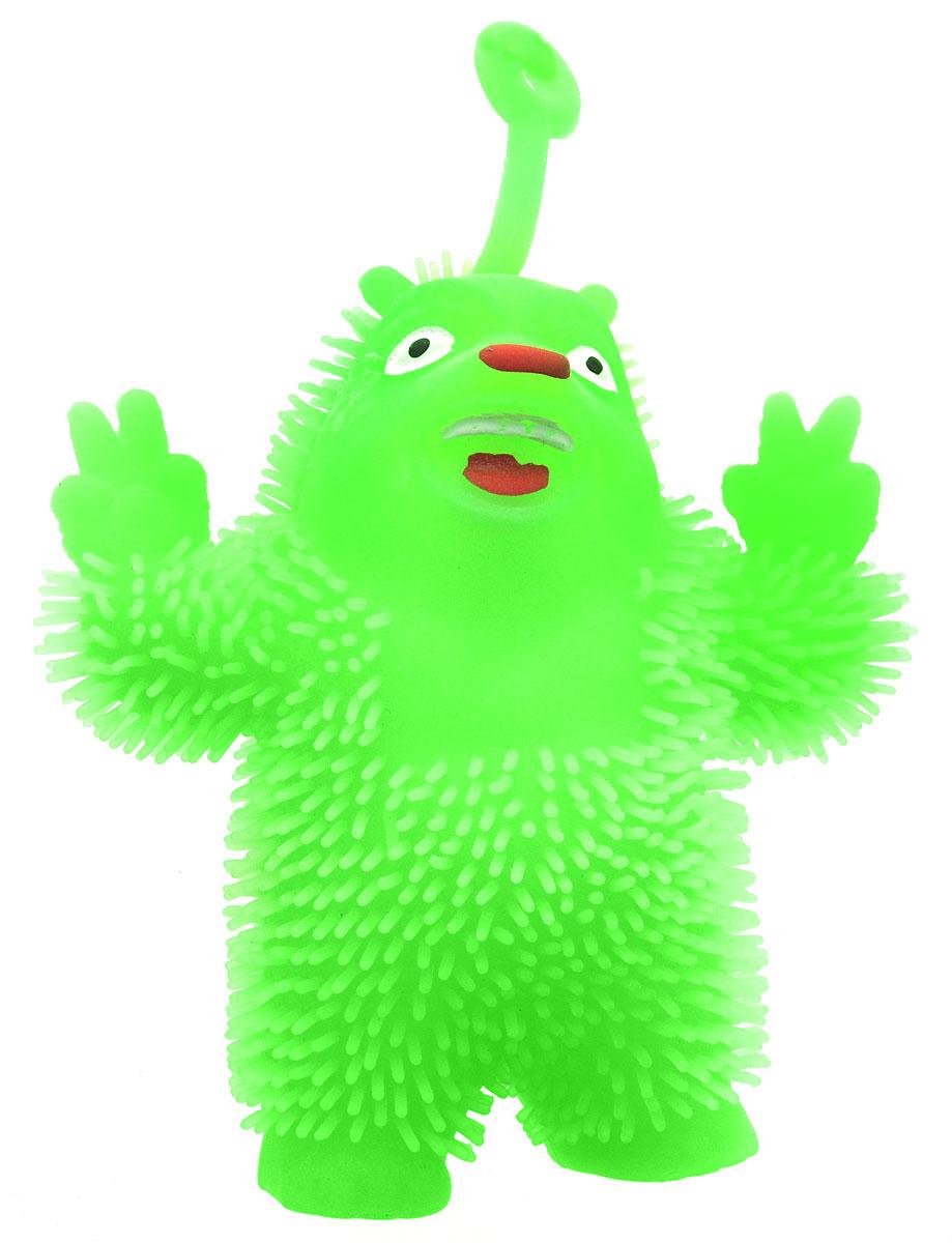 1TOY Игрушка-антистресс Ё-Ёжик Медвежонок-хиппи цвет салатовый 1toy игрушка антистресс ё ёжик инопланетянин одноглазый цвет оранжевый