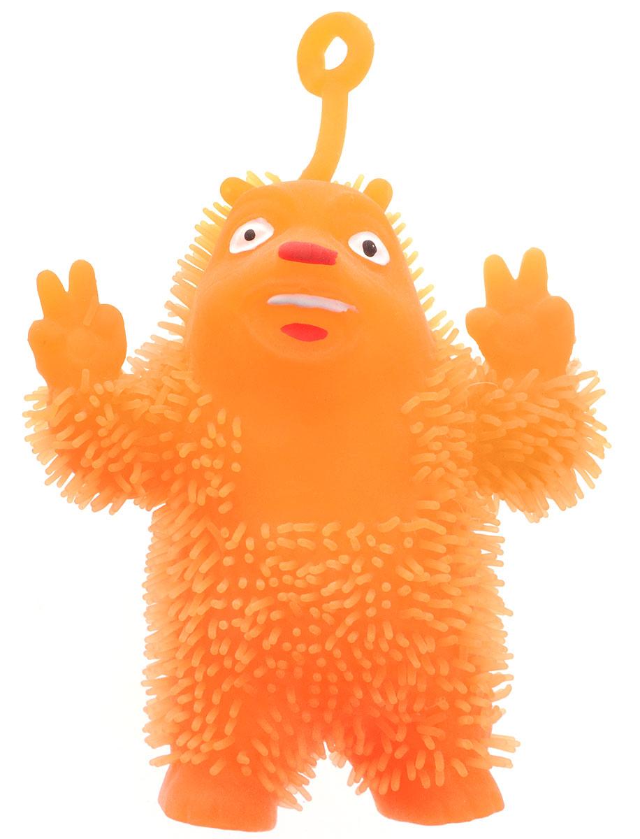 1TOY Игрушка-антистресс Ё-Ёжик Медвежонок-хиппи цвет оранжевый техника ё ёжик со светомт56556
