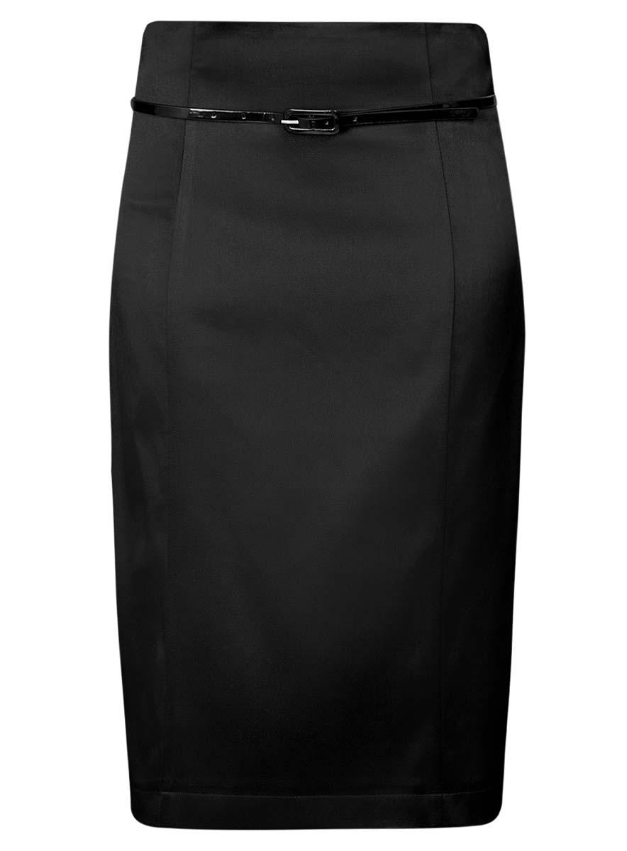 Юбка oodji Collection, цвет: черный. 21605064/33039/2900N. Размер 36 (42-170)