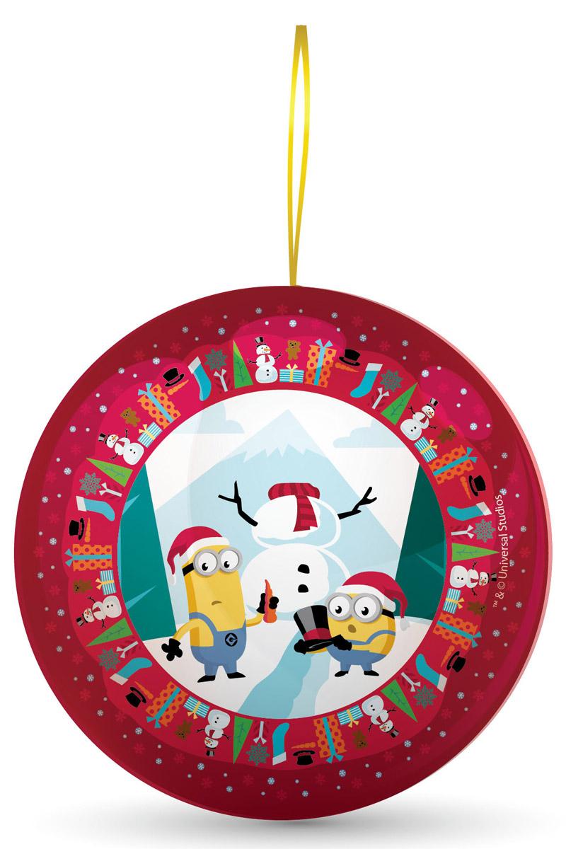 Сладкая Сказка Миньоны красный подарочный шар с сюрпризом, 18 гMK-52-17/MI_красныйВ новогодние праздники принято украшать елку разноцветными шарами.Сладкая сказка предлагает яркие и красочные новогодние подарочные шары с сюрпризом Миньоны.Шары выпускаются в трех цветах — красном, зеленом и голубом. В основе сюжета каждого дизайна — новогодняя история, связанная с забавными миньонами.Внутри каждого новогоднего шара — 18 грамм натуральной леденцовой карамели со вкусом банана и один из восьми коллекционных 3D-магнитов с миньонами, запечатленными в различных эмоциональных ситуациях.Такой подарок поднимет настроение и окрасит день в праздничные тона.