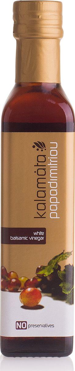 Papadimitriou белый бальзамический уксус Каламата, 250 мл12.0003Кремообразный, ароматный, кисло-сладкий на вкус бальзамический уксус - чисто натуральный продукт, производится исключительно из изюма и не содержит искусственных красителей и консервантов.