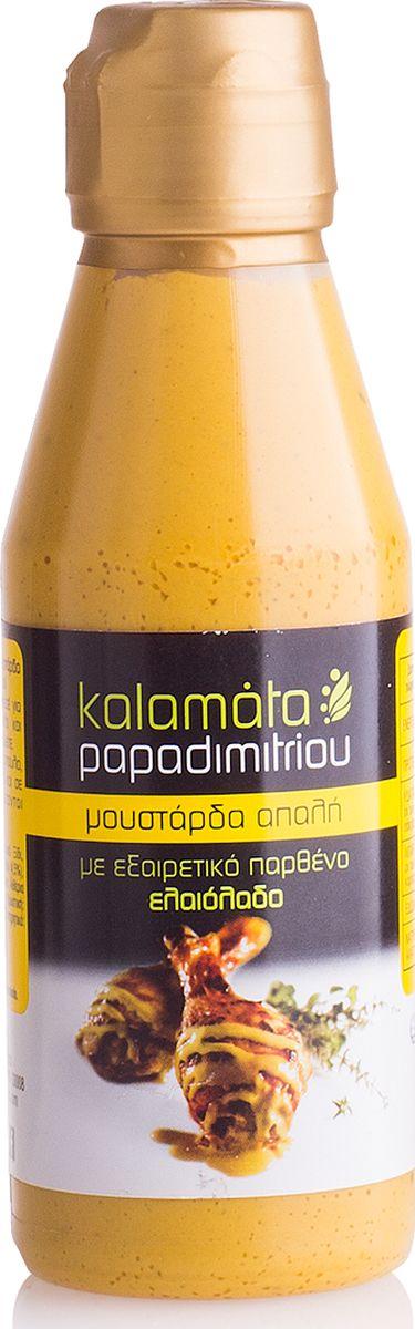 Papadimitriou горчица мягкая с оливковым маслом, 200 г12.0020Мягкая горчица с оливковым маслом в удобной упаковке. Kalamata Papadimitriou является ведущим брендом соусов и уксусов в Греции и экспортируется в разные страны по всему миру.
