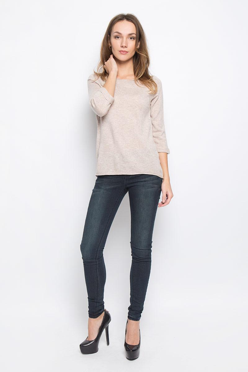 Пуловер женский Broadway Telina, цвет: бежевый. 10156956_703. Размер M (46)