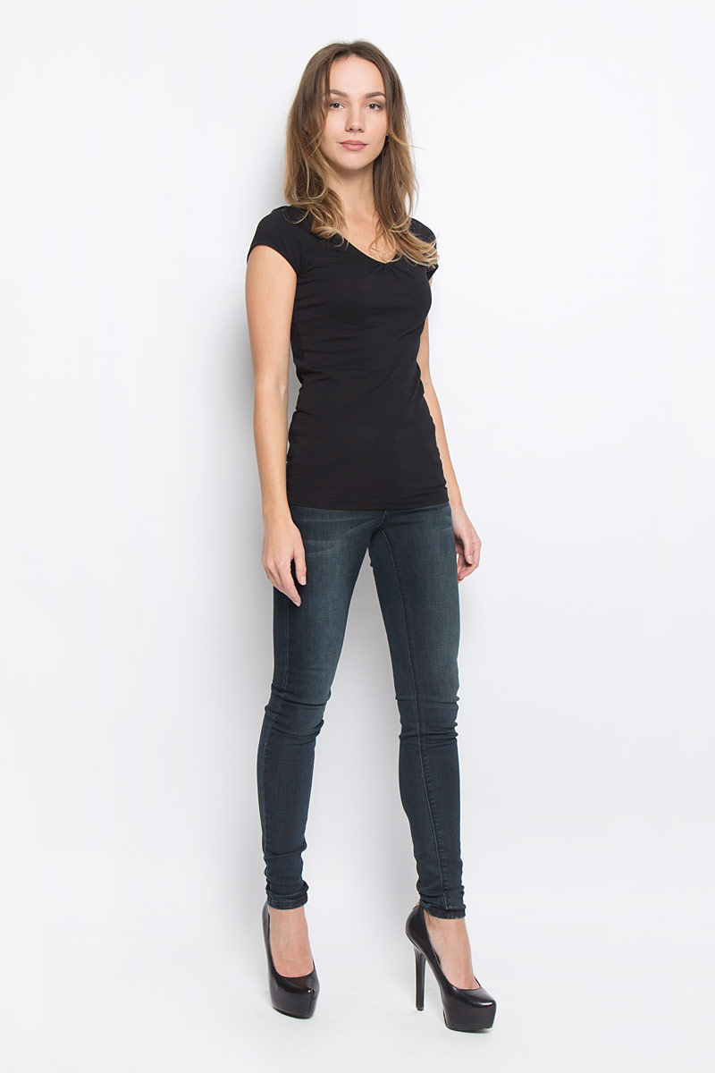 Футболка женская Broadway Dana, цвет: черный. 10156603_999. Размер M (46)