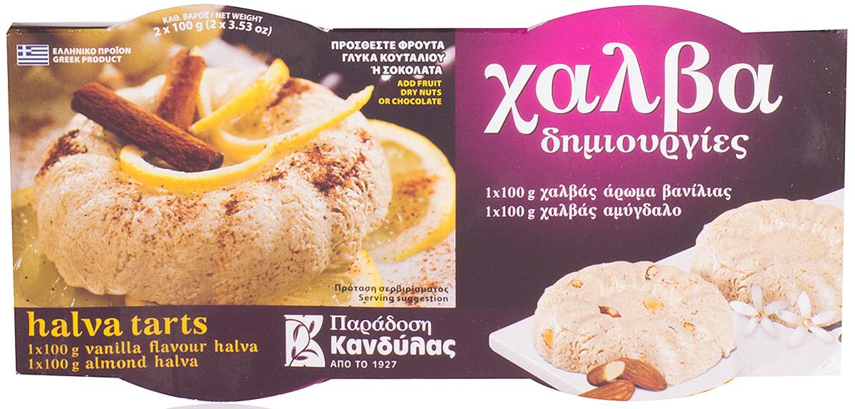 Kandylas халва ваниль-миндаль, 2 шт по 100 г смаковина халва кунжутная на фруктозе 250 г