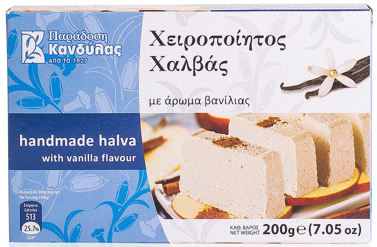 Kandylas халва с ароматом ванили, 200 г13.0024Греческие сладости - халва кунжутная с ванилью.