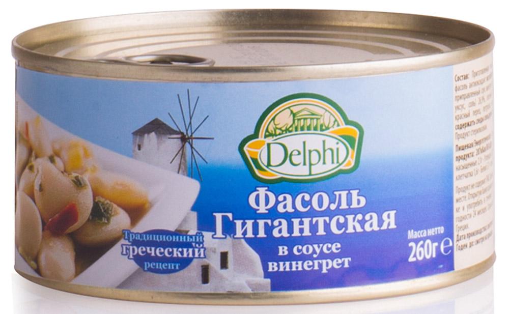 Delphi Фасоль гигантская в соусе винегрет, 260 г42.0026Гигантская фасоль в классическом соусе винегрет, он же винегар, приготовленном на основе масла и винного уксуса.