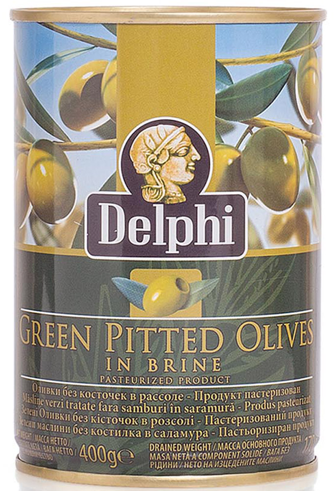 Delphi Оливки без косточки в рассоле Superior 261-290, 400 г оливки зелёные pikarome без косточки в рассоле 350 г