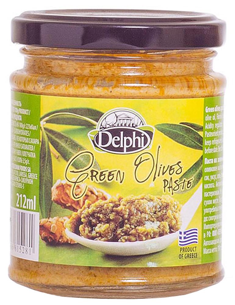 Delphi Паста из зеленых оливок, 190 г51.0047,1В состав оливковой пасты Делфи входят измельченные зеленые оливки, высококачественное оливковое масло и специи. Зеленые оливки – это кладезь природных витаминов и минералов.
