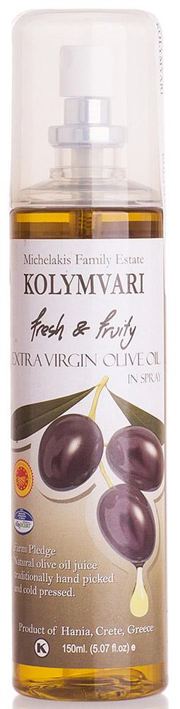 Kolympari масло оливковое Extra Virgin спрей, 150 мл81.0039,1Оливковое масло Extra Virgin P.D.O. Kolympari в спрее - инновационный продукт компании Kolympari S.A. Идеально подходит для тех, кто желает контролировать свое питание. Спрей равномерно распределяется в салат или пищу.