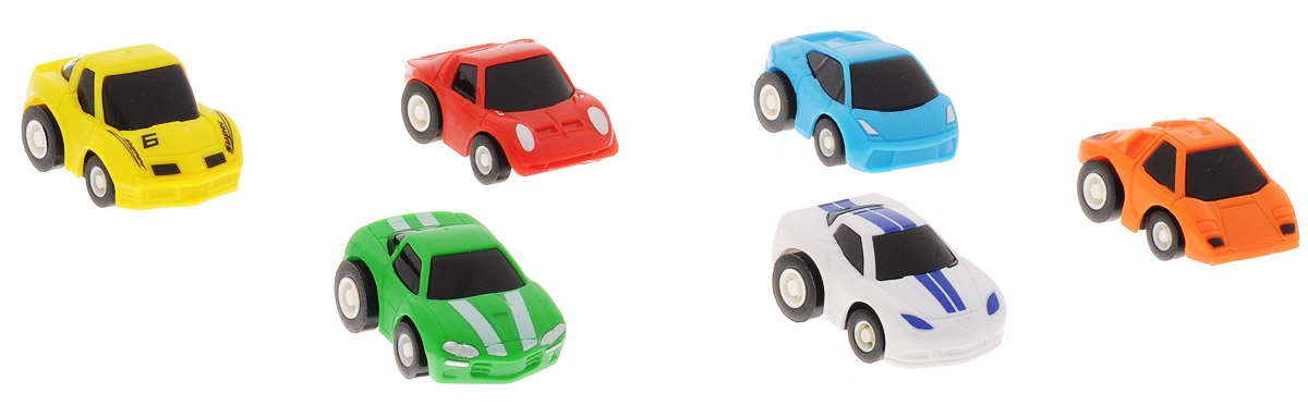 Дрофа-Медиа Набор инерционных машинок Гоночные машины 6 шт дрофа медиа набор инерционных машинок speedy cars 8 шт