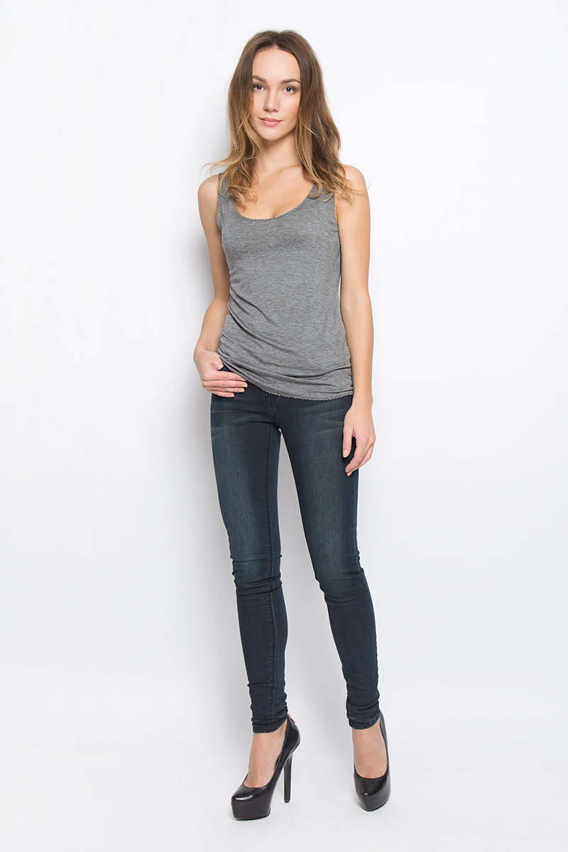 Майка женская Broadway Reness, цвет: темно-серый. 10156888_833. Размер XL (50) футболка женская diesel цвет темно серый 00ssun 0wady размер xl 50