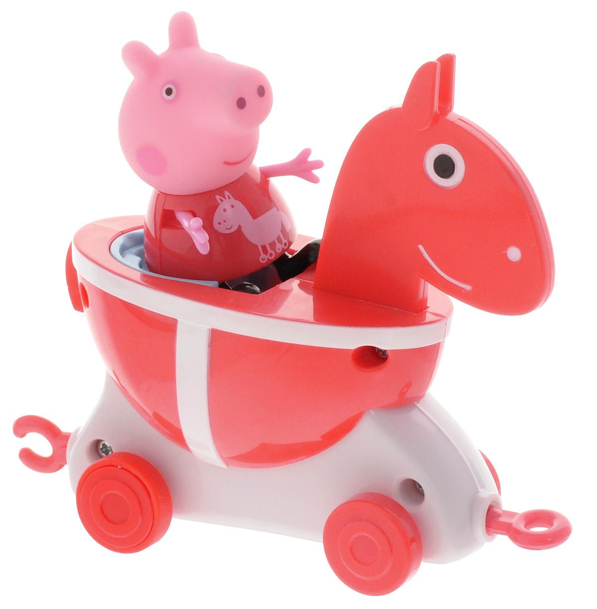 Peppa Pig Игровой набор Пеппа и Каталка Лошадка
