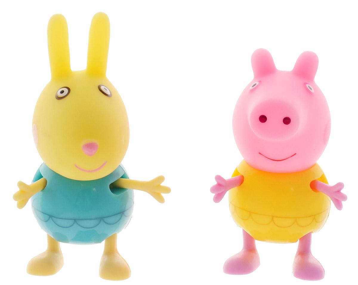 Peppa Pig Набор фигурок Пеппа и кролик Ребекка peppa pig playing football