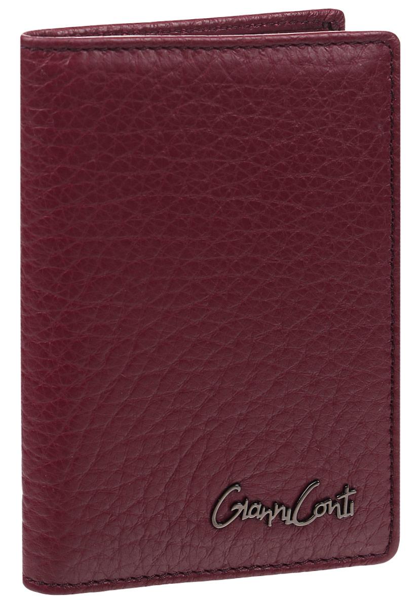 Обложка для автодокументов женская Gianni Conti, цвет: темно-красный. 15474631547463Женская обложка для автодокументов Gianni Conti выполнена из натуральной кожи фактурного тиснения. Обложка раскладывается пополам. Внутри обложки расположены два потайных кармана, один из которых сетчатый, пять карманов для пластиковых карт, одиннадцать прозрачных файлов для документов.Вместительная обложка для автодокументов подчеркнет вашу индивидуальность, а также станет замечательным подаркомдля автолюбителей прекрасного пола.Обложка поставляется в фирменной картонной коробке.