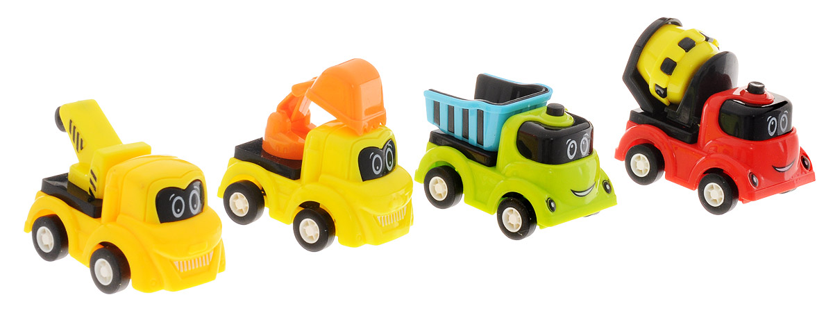 Дрофа-Медиа Набор инерционных машинок 4 шт набор инерционных игрушек танки 6385 4