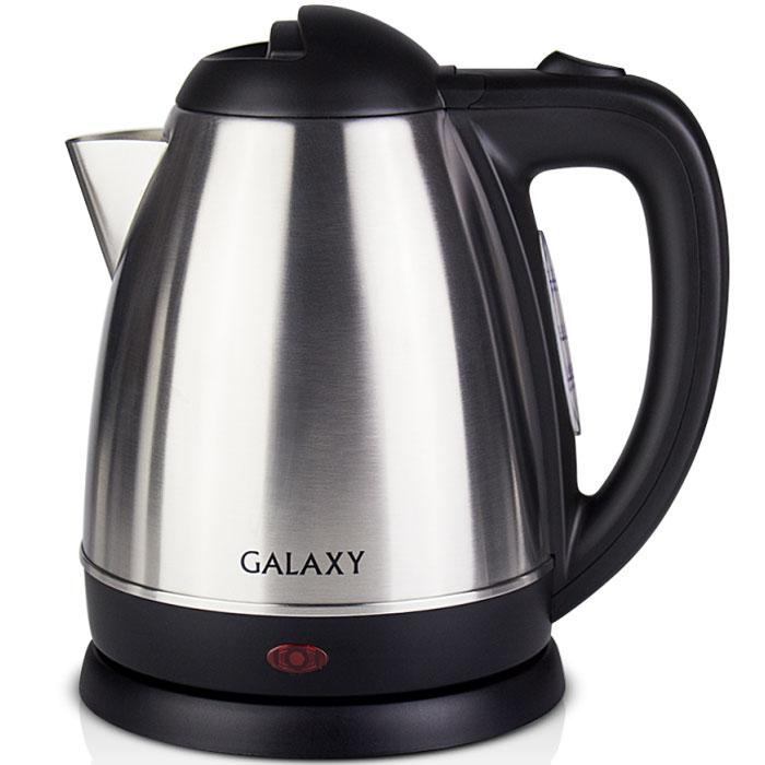 Galaxy GL 0303 электрический чайник4630003362537Galaxy GL 0303 - надежный электрочайник мощностью 2000 Вт в корпусе из нержавеющей стали с элементами из качественного пластика. Металлический чайник Galaxy GL 0303 изготавливается из стали марки 18/10, именуемой медицинской или хирургической.Такое название она получила не случайно, ведь именно из этой марки стали изготавливаются медицинские и хирургические инструменты. Это обусловлено тем, что сталь 18/10 экологически безопасна, имеет высокую плотность и твердость, устойчива к коррозии, а также к воздействию кислот и щелочей, в том числе при высоких температурах.Чайник Galaxy GL 0303 не меняет вкус воды, устойчив к образованию накипи и в течении многих лет сохраняет свои качественные и эстетические свойства. Прибор оснащен скрытым нагревательным элементом и позволяетвскипятить до 1,5 литра воды. Данная модель оборудована светоиндикатором работы, поворотной поверхностью 360° и фильтром для воды. Для обеспечения безопасности при повседневном использовании предусмотрены функция автовыключения, а также защита от включения при отсутствии воды.