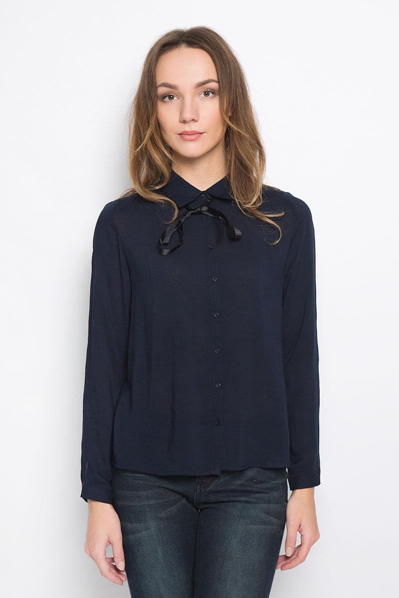 Блузка женская Broadway Reyleigh, цвет: темно-синий. 10156643_541. Размер M (46) футболка broadway broadway br004emccos3