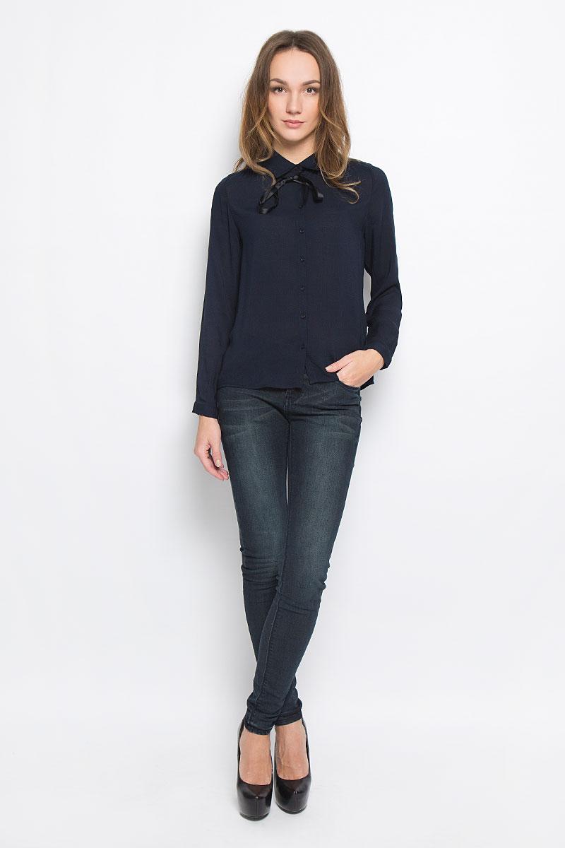 Блузка женская Broadway Reyleigh, цвет: темно-синий. 10156643_541. Размер L (48) patrick hellmann водолазка от patrick hellmann s3056 черный