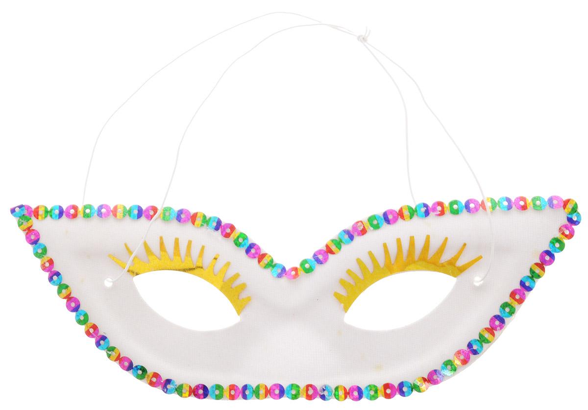 Rio Маска карнавальная с ресницами цвет белый