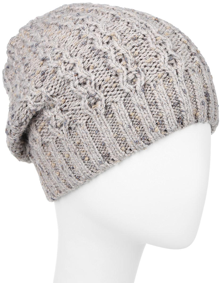 Шапка женская Baon, цвет: пепельно-бежевый. B346502. Размер универсальный шапка женская baon цвет серый b346539 размер универсальный