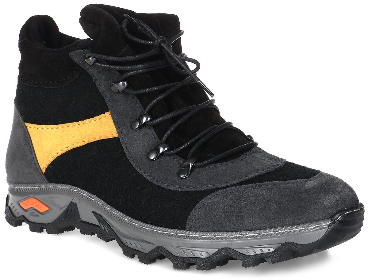 Ботинки войлочные мужские Кукморские валенки, цвет: черный. Б-20. Размер 36