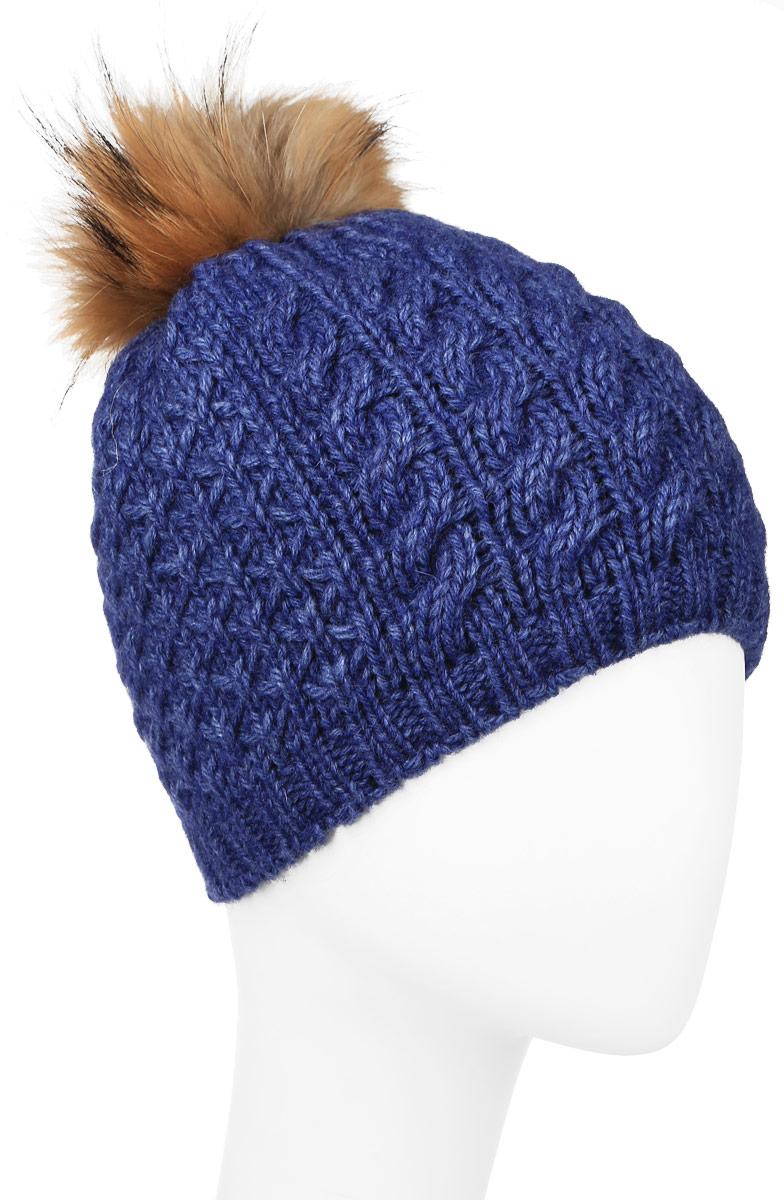 Шапка женская Baon, цвет: синий. B346516. Размер универсальный шапка женская baon цвет серый b346539 размер универсальный