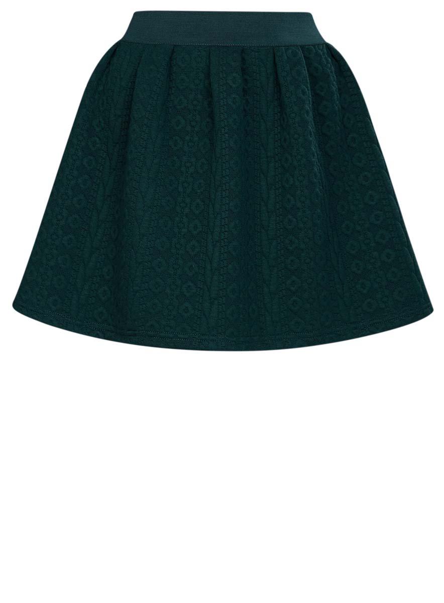 Юбка oodji Ultra, цвет: темно-зеленый. 14100019-3/46005/6C00N. Размер XL (50) oodji 14100019 2 45990 6900n