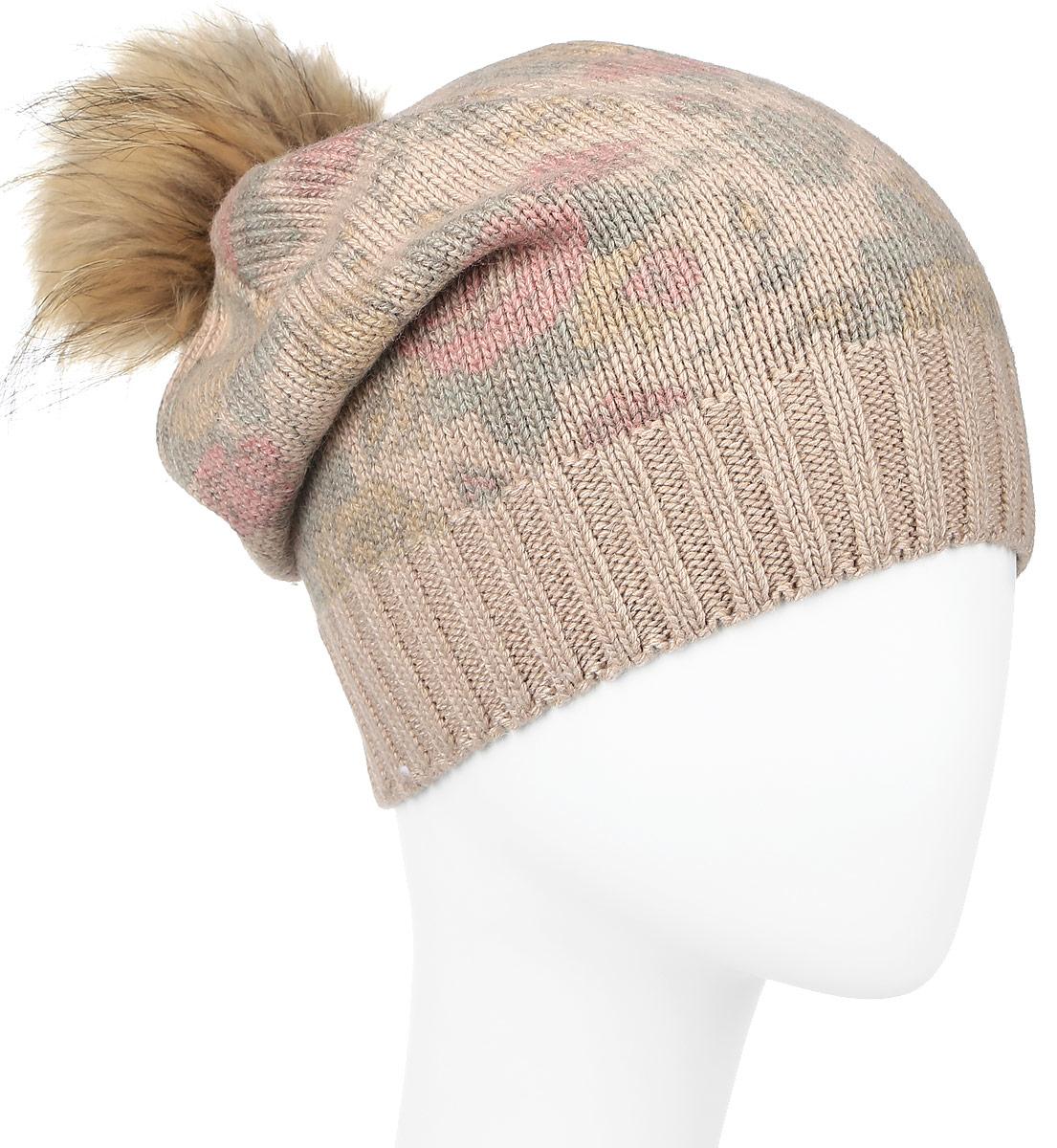 Шапка женская Baon, цвет: бежевый. B346517. Размер универсальный шапка женская baon цвет серый b346539 размер универсальный