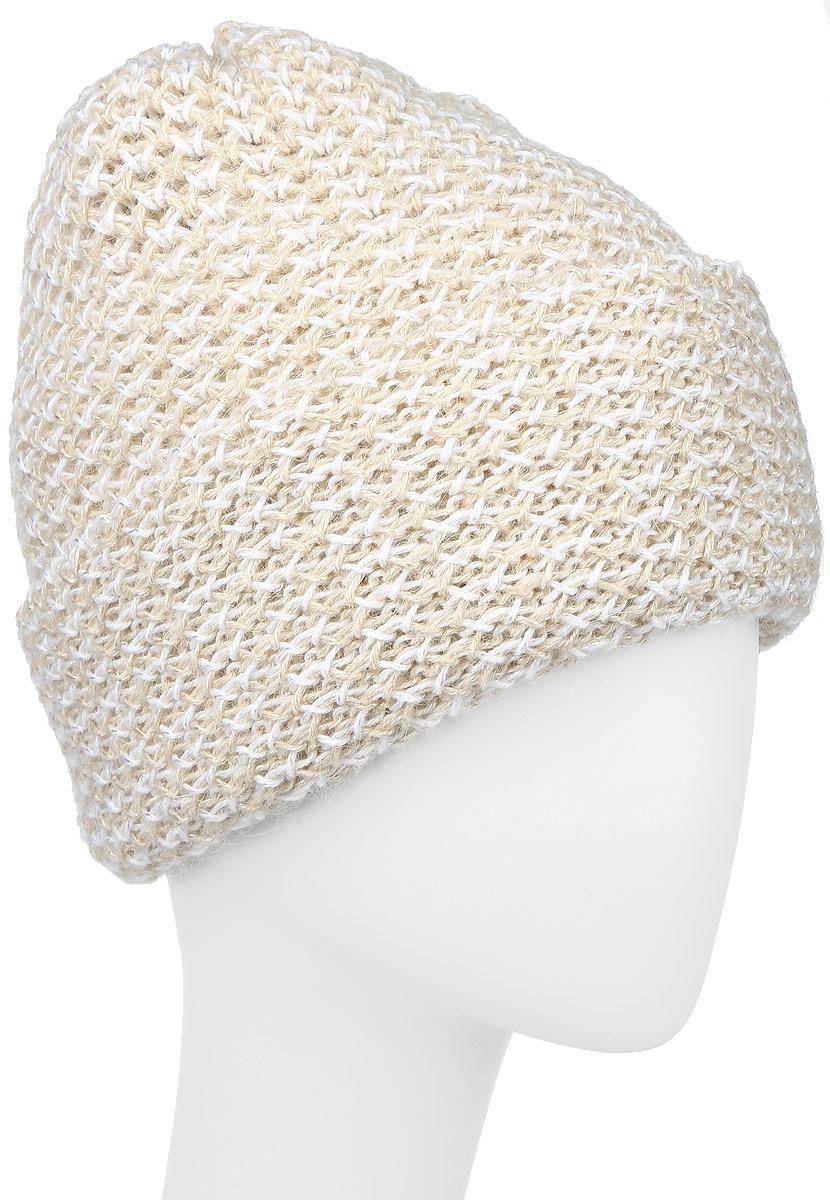 Шапка женская Baon, цвет: белый, бежевый. B346519. Размер универсальный шапка женская baon цвет серый b346539 размер универсальный