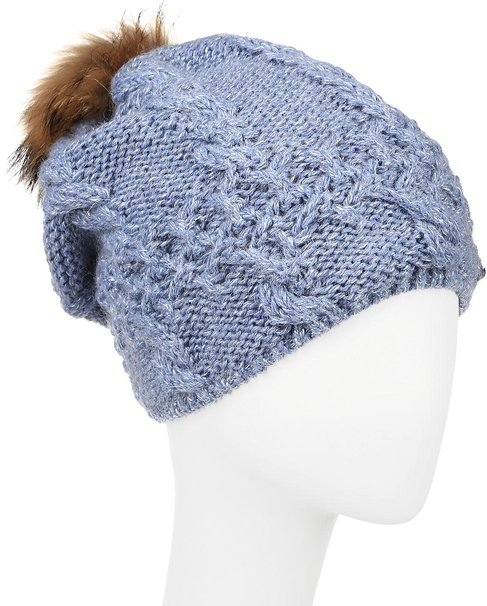 Шапка женская Baon, цвет: голубой. B346510. Размер универсальный шапка женская baon цвет серый b346539 размер универсальный