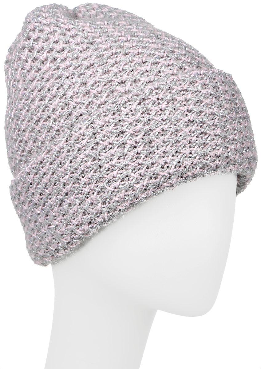 Шапка женская Baon, цвет: серый. B346519. Размер универсальныйB346519_SILVERВязаная женская шапка Baon отлично подойдет для модниц в холодное время года. Изготовленная из шерсти с добавлением полиамида и мохера, она мягкая и приятная на ощупь, обладает хорошими дышащими свойствами и максимально удерживает тепло. Шапочка плотно облегает голову, что обеспечивает надежную защиту от ветра и мороза. Модель шапки оформлена крупным вязаным узором и дополнена небольшой металлической пластиной с названием бренда.
