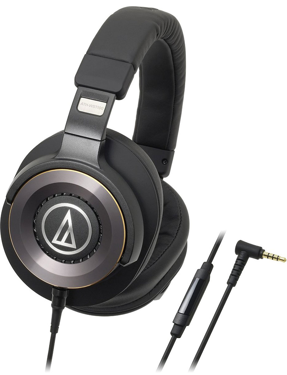 Audio-Technica ATH-WS1100iS, Black наушники наушники audio technica ath m50x black